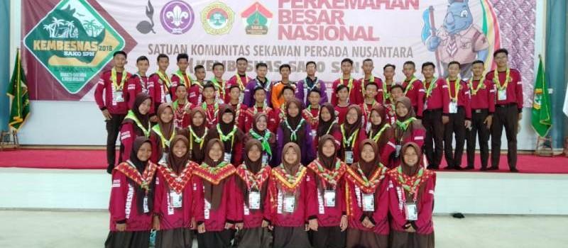 Kontingen Sako Sekawan Persada Nusantara Daerah Lampung pada Kemah Besar Nasional (Kembesnas) yang diselenggarakan dari tanggal 7-9 November 2018 di Buper Solear Tangerang, Banten.