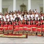 Presiden Jokowi Menerima Pemenang Pesparani, Panitia, dan para Uskup di Istana Bogor