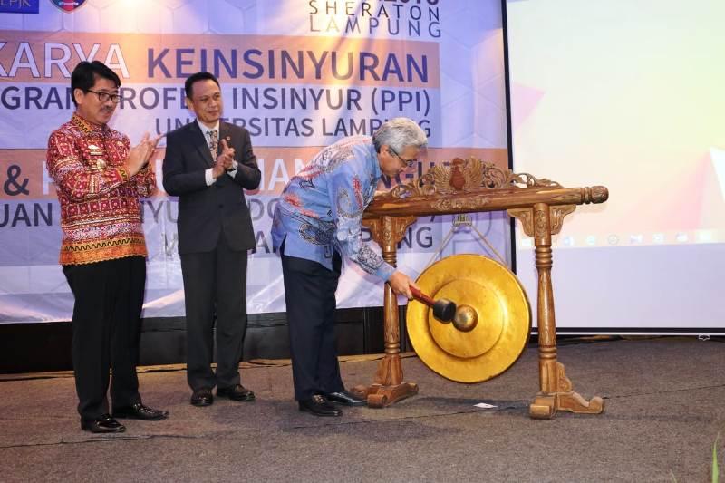 Lokakarya PII, seminar, dan pengukuhan PII Wilayah Lampung di Sheraton Hotel Bandar Lampung, Kamis (29/11/2018).