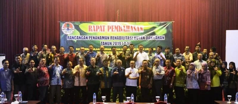 Rapat Pembahasan Rancangan Penanaman Rehabilitasi Hutan dan Lahan Tahun 2019, Jumat, 9-11-2018 di Hotel Horison Bandar Lampung.