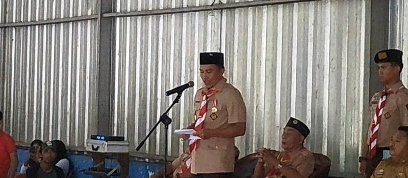 Bupati Lampung Barat selaku Ka.Mabicab kak Parosil Mabsus di GSG PLTA Way Besai Sumberjaya, Lampung Barat.
