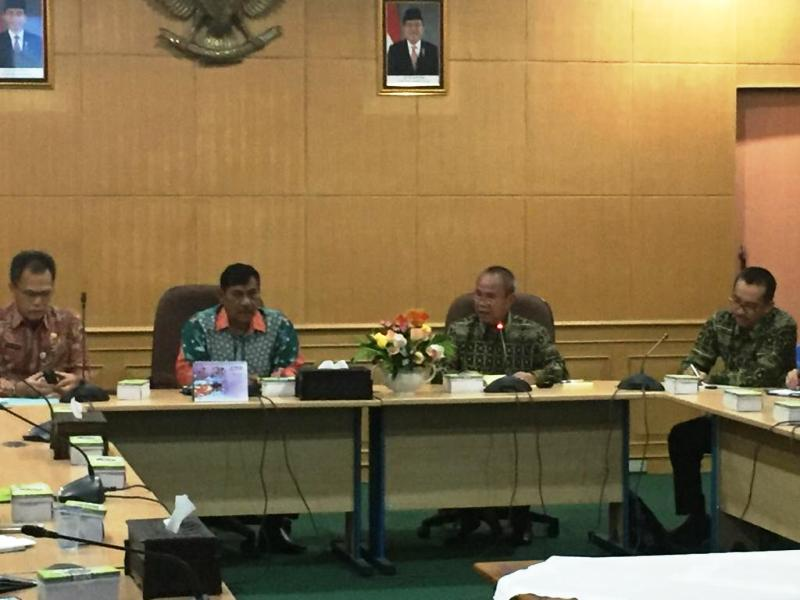 Wakil Gubernur Lampung Bachtiar Basri mengunjungi Kabupaten Belitung Provinsi Bangka Belitung, Kamis (13/12/2018).