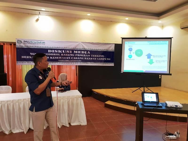 Kepala Bidang Perluasan Peserta dan Kepatuhan BPJS Kesehatan Bandar Lampung, Edi Wiyono. Foto : Robert/Radio Suara Wajar