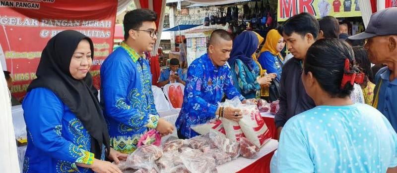 Jelang Natal 2018 dan Tahun Baru 2019, Dinas Ketahanan Pangan Provinsi Lampung Gelar Pasar Murah.