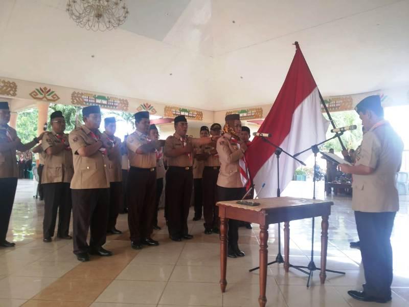 Ketua Kwarda Lampung, kak Idrus Effendi melantik Bupati Tulangbawang kak Winarti sebagai Ketua Majelis Pembimbing Cabang Gerakan Pramuka Tulangbawang masa bakti 2018-2023.