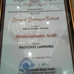 Lampung Raih Penghargaan Bhumandala Ariti dari Badan Informasi Geospasial