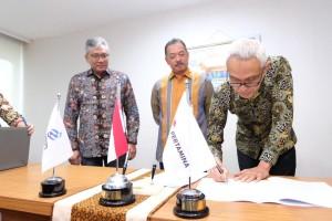 Acara Penandatanganan Perjanjian Jual Beli Saham Pertagas antara Pertamina dan PGN yang dilaksanakan di Kementerian BUMN (28/12/2018).