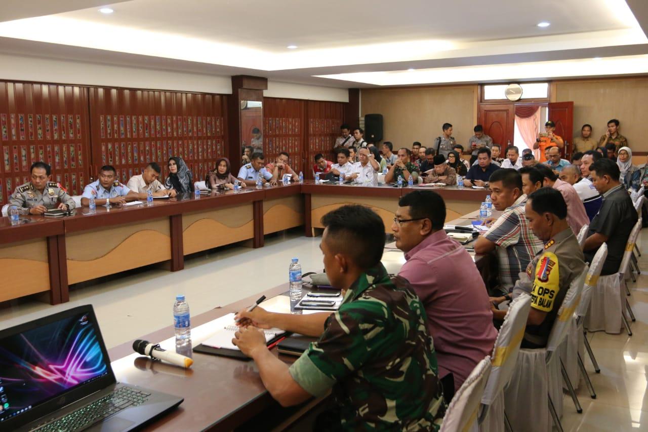 Rapat Pembahasan Bencana Tsunami Kalianda, yang diselenggarakan di Aula Begadang Resto Teluk Betung, Sabtu (29/12/18).