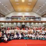 Ribuan Pelajar Sambut Ibu Negara Iriana Jokowi di Pesawaran