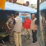 Ribuan Pengungsi Menumpuk di Kantor Gubernur, Tagana Lampung Dirikan Dapur Umum