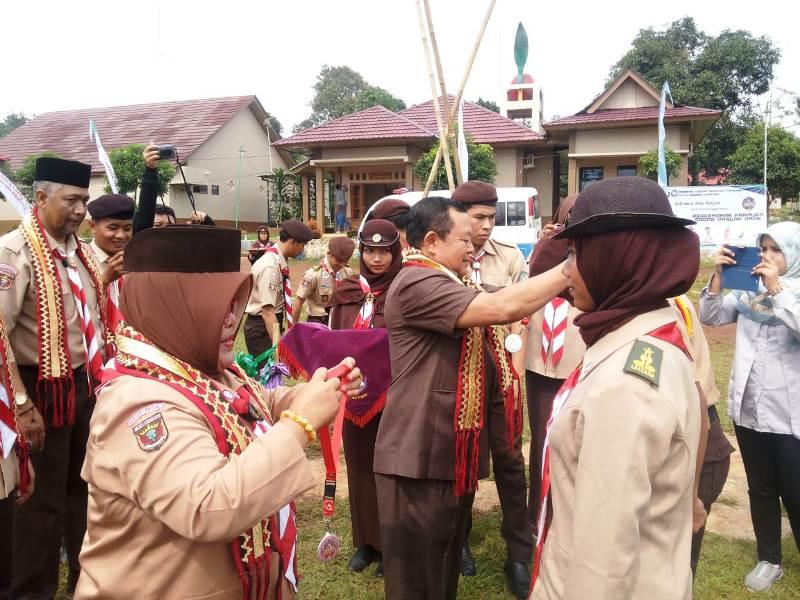 Gubernur Lampung yang diwakili Kepala Dinas Sosial Kakak Drs. Sumarju Saeni, M.Sc membuka secara resmi Perkemahan Pramuka Sadar Pangan Aman (PERKASAPA) 2018.