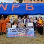 Alumni FE Universitas Lampung 89 Serahkan Bantuan ke Posko BPBD Pemprov