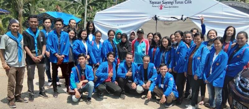 Mahasiswa STIE Gentiaras Berikan Bantuan Untuk Korban Tsunami di Kalianda.