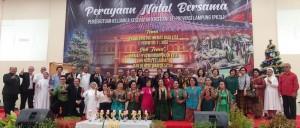 Persekutuan Keluarga Kesehatan Kristiani se-Provinsi Lampung (PK3L), merayakan Natal Bersama di Gedung Hakka Metta Sarana, Jalan Ikan Bawal, No.76, Teluk Betung Selatan, Sabtu (5/1/19).