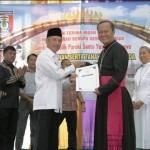 Pemkab Pringsewu Hibahkan Tanah dan Bangunan Kepada Keuskupan Tanjungkarang