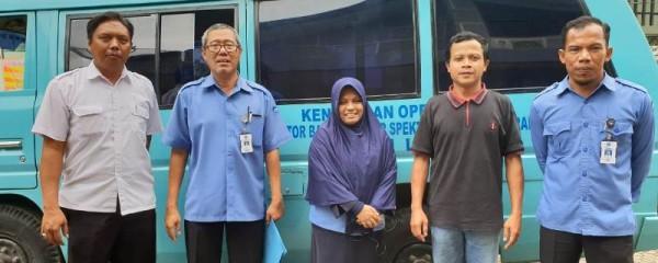 Tim dari Balai Monitor Spektrum Frekuensi Radio Kelas II Lampung Lakukan Pengukuran Parameter Teknis Radio di Suara Wajar, Rabu, 16 Januari 2019.