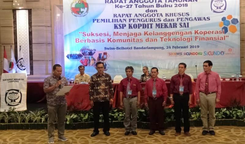 Dewan Pengurus KSP Kopdit Mekar Sai Lampung, Masa Bakti 2019-2022. Foto : Yohanes De Deo Widyastoko