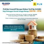 PLN Berikan Diskon Pada Pelanggan R-I 900 VA RTM Per 1 Maret 2019