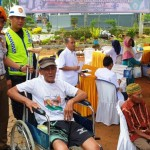 Ratusan Warga Sekitar Stasiun Gedung Ratu Natar Ikuti Pengobatan Gratis Rail Clinic  PT KAI