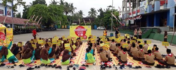 New Challenge Ranking 1 Competition Indosat Ooredoo sambangi MTS Baitul Janah Bandar Lampung pada Rabu, 20 Maret 2019 lalu.
