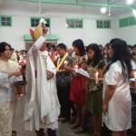 Pimpin Misa Malam Paskah, Uskup Tanjungkarang Ajak Umat Katolik Bermanfaat Bagi Sesama