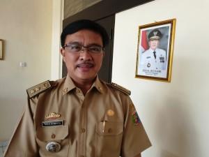 Sekretaris Dinas Koperasi dan UKM Provinsi Lampung, Agus Nompitu. (Foto : Robert)