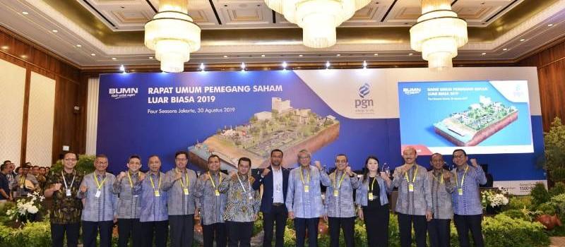 RUPSLB PGN di Jakarta, Jumat (30/8).