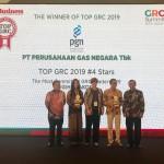 PT Perusahaan Gas Negara Raih 2 Penghargaan pada TOP GRC 2019