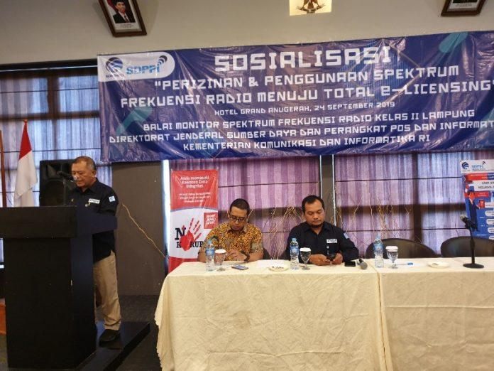 Kepala Balai Monitor Frekuensi dan Radio Bandar Lampung Ansyarulah.