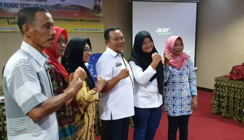 Kadisos Lampung, Sumarju Saeni pada acara Bimtek WKSBM di Hotel Grand Praba, Bandarlampung, Rabu, 23 Oktober 2019.