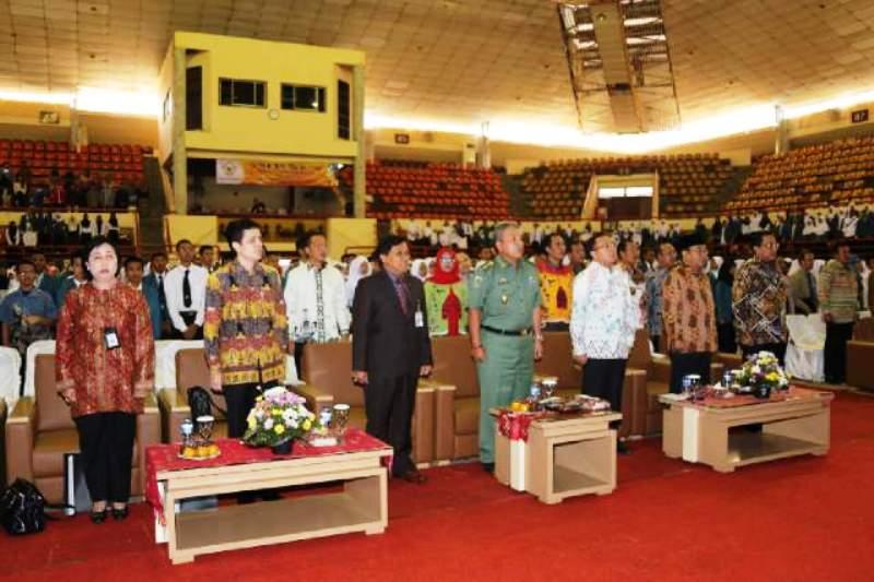 """Suasana Seminar Sehari """"BPK, Pengelolaan Keuangan Negara dan Kesejahteraan Rakyat"""", Senin, (21/9) di GSG Unila, Bandar Lampung."""