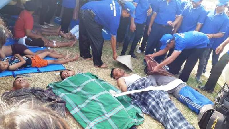 Suasana Pelatihan Kampung Siaga Bencana (KSB) hari ini Rabu (30/09) di Desa Mergasasi, Kecamatan Labuhan Maringgai, Kabupaten Lampung Timur.