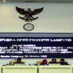 Lima Raperda Prakarsa Pemerintah Provinsi Lampung Dibahas DPRD Hari ini