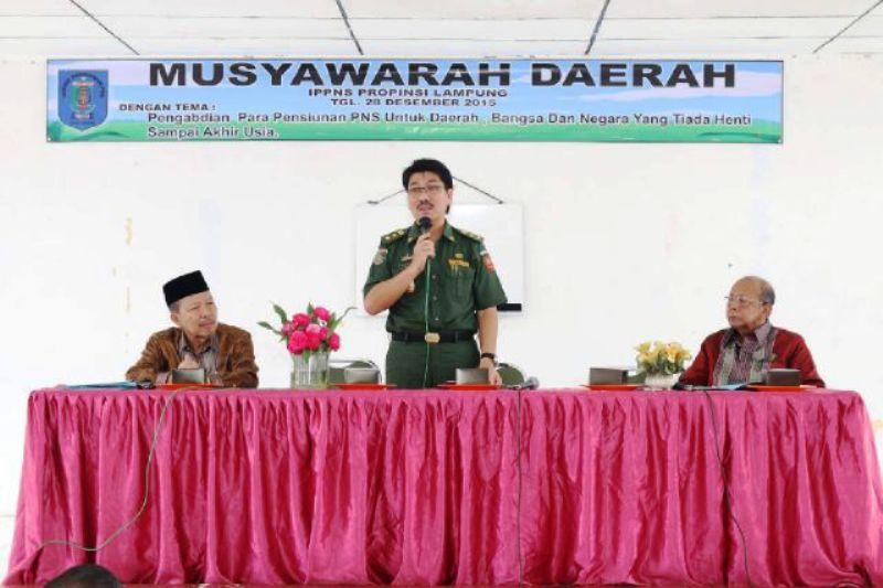 Musyawarah Daerah IPPNS di Ruang Majelis Penyimbang Adat Lampung, di Gedung Meneng Bandar Lampung (28/12).