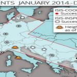 Peta Serangan ISIS Berbentuk Salib, Vatikan Target Terakhir