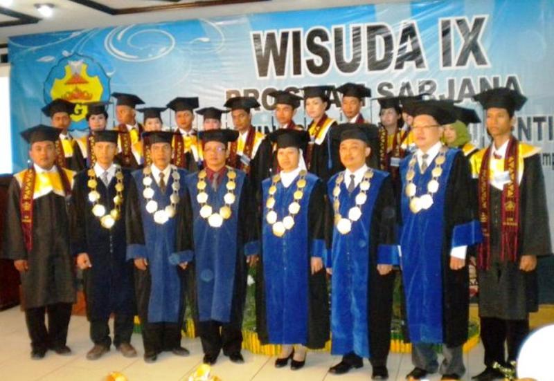 Wisuda Angkatan IX Stie Gentiaras Bandar Lampung.