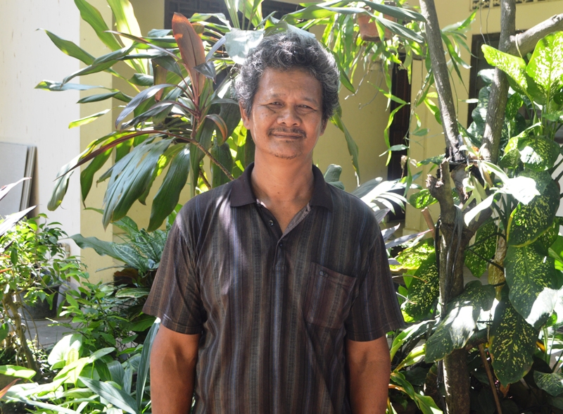 Matius Jumadi (57) di Biara SCJ di Jalan Cipto Mangunkusumo No. 14/16 Teluk Betung, Bandar Lampung, Sabtu 02 April 2016.