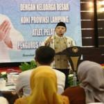 Gubernur silaturahmi dengan keluarga besar Koni Lampung