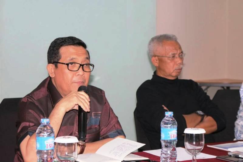 Acara sosialisasi terkait percepatan pembangunan Jalan Trans Tol Sumatera di Ruang Kalianda Swiss-Belhotel Bandar Lampung, Rabu 26 April 2017.
