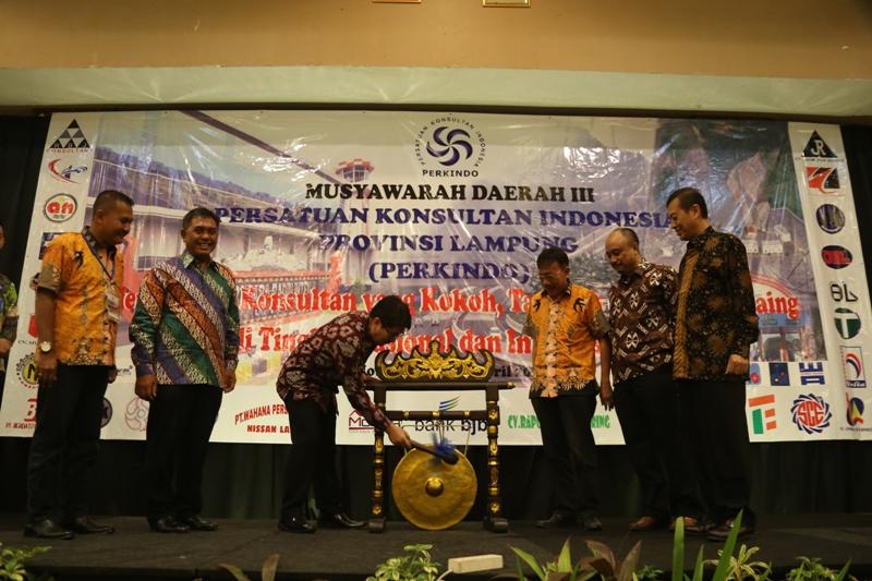 Acara Musyawarah Daerah (Musda) III Persatuan Konsultan Perkindo DPD Provinsi Lampung Tahun 2017, di Ballroom Hotel Emersia, Kamis 06 April 2017