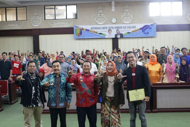 Acara edukasi UMKN Go Online di Gedung Pusiban Kantor Gubernur Lampung, Kamis 7 September 2017.