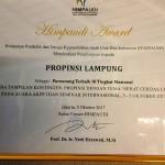 Bunda Paud Provinisi Lampung Yustin Ridho Ficardo Terima Himpaudi Award