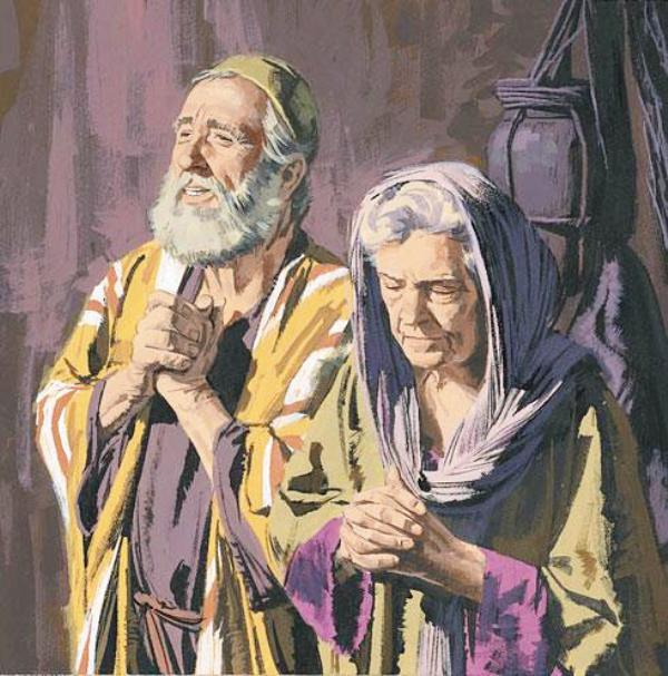 Ilustrasi Zakharia dan Elisabet. Credits : Google