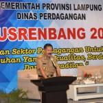 Asisten Hery Suliyanto Buka Musrenbang Dinas Pedagangan Pemprov Lampung