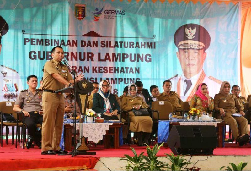 Silaturahmi Gubernur Lampung dengan jajaran kesehatan se Provinsi Lampung, Senin 5 Februari 2018 di Mahan Agung.