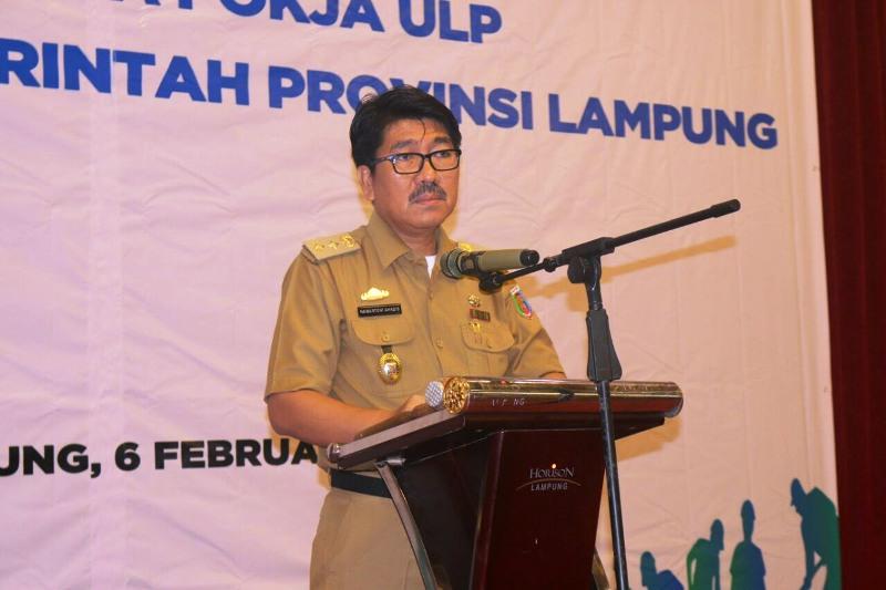 Plt. Sekretaris Daerah Provinsi Lampung Hamartoni Ahadis.