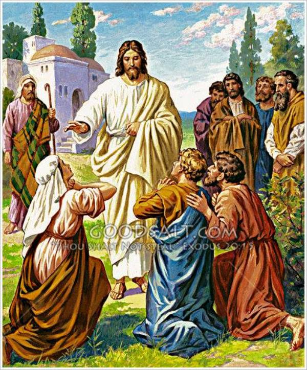 Ilustrasi Yesus. Credits : https://www.facebook.com/thomas.suratno.7
