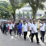 Ribuan Masyarakat Ikuti Jalan Sehat HUT Provinsi Lampung ke-54