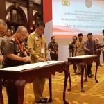 Pjs. Gubernur Didik Tandatangani Perjanjian Kerjasama Antara Pemda dan Penegak Hukum