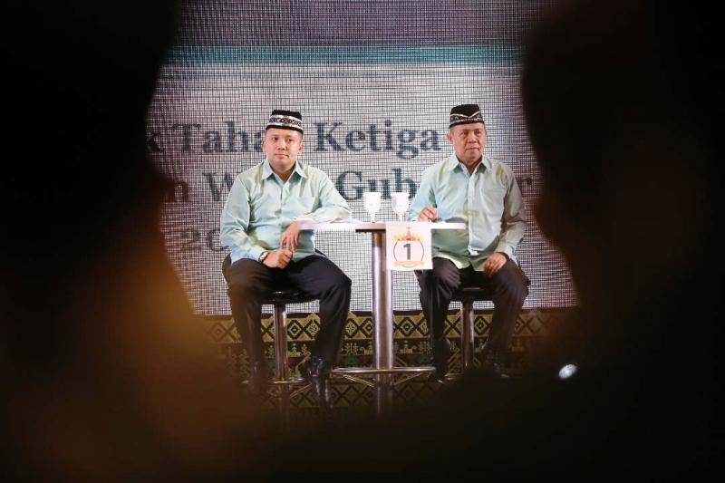 Pasangan calon Gubernur Lampung Nomor urut satu Muhammad Ridho Ficardo dan Bachtiar Basri.